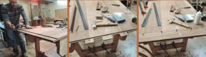 תהליך ייצור שולחן - בנייה של שולחן בהתאמה אישית - רסטורנו