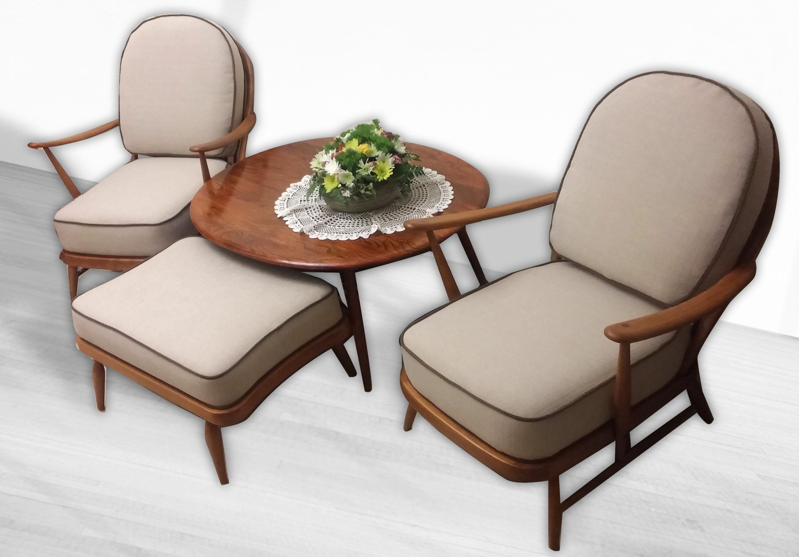 שיחזור רהיטים ריפוד רהיטים - ריפוד כורסא - כורסא בתהליך ריפוד ברסטורנו